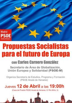 Carlos Carnero acudirá a nuestra Casa del Pueblo para hablar sobre las