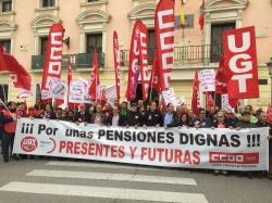El PSOE de Alcalá volvió a salir a la calle para manifestarse por unas Pensiones Dignas