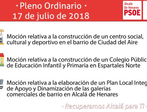 El PSOE de Alcalá apoyará en el Pleno la construcción de un Colegio de Educación Infantil y Primaria en Espartales Norte