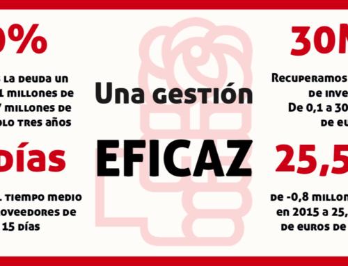 Una gestión eficaz: una gestión del PSOE