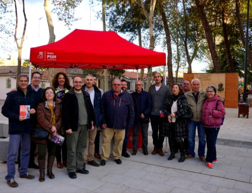 El PSOE de Alcalá visita el entorno del Parque Salvador de Madariaga