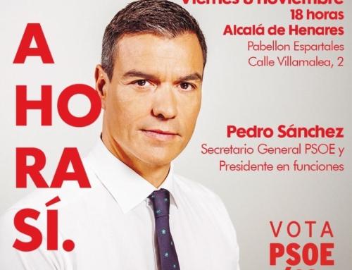 El viernes, Pedro Sánchez en Alcalá de Henares