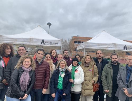 El PSOE de Alcalá, con los vecinos y vecinas de La Garena por la finalización de las obras del IES Francisca de Pedraza
