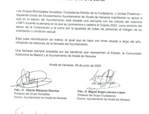 El PSOE apoya la decisión del Ayuntamiento de poner y mantener la pancarta LGTBI en el balcón del consistorio