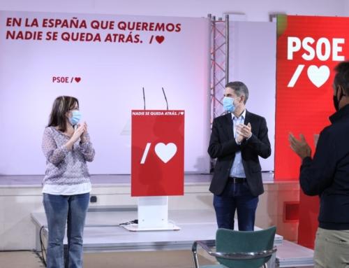 Adriana Lastra ha participado hoy en un acto público del PSOE en Alcalá de Henares