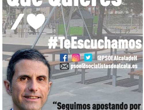 El PSOE de Alcalá De Henares intensifica su contacto con la ciudadanía complutense renovando la campaña #LaAlcaláQueQuieres